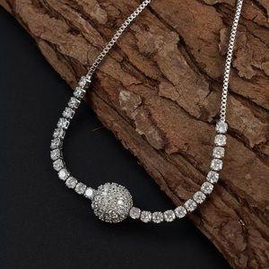 Luxury AAA Cubic Zirconia Chain & Link Bracelet